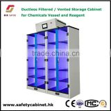 ducltess vented storage cabinet for flasks and bottles containing toxic or noxious chemicals
