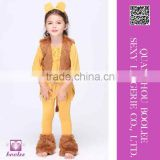 New Arrival Wholesale Courage Lion Child Girls Cute Halloween Costume cosplay costume for children