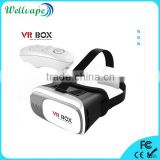 2016 new product google cardboard virtual reality 3D glasses 3D vr box 2.0 with remote                                                                         Quality Choice