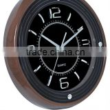 2014 New Design Plastic Material Wooden Wall Clock