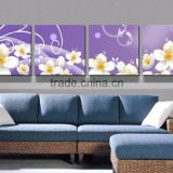 Abstract flower Oil Painting Printed On Canvas modern Flowers oil Painting For livingroom F-101