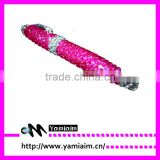 crystal rhinestone pen,jewelled crystal bling pen,bling writing pen
