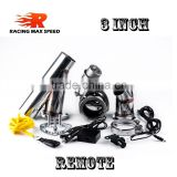 3 inch type y 304 stainless steel exhaust muffler tip vacuum valve with remoter