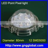 Diameter 80mm waterproof module Club decorative led waterproof lights