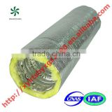 Compressible aluminum insulation flexible duct air conditioning system