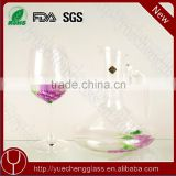 High quality colored crystal glass wine decanter