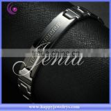 Newest design ! fashionable black elegant bracelet stainless steel men bracelet (DSH011)