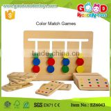 Cheap Color Number Match Wooden Memory Game for kids