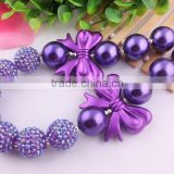 Look! Wholesale chunky bubblegum beads necklace in bulk!Fashion charming Christmas necklaces for little girls