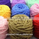 100%polyester/wool/acrylic big loop thick fancy roving yarn for knitting caps/scarves
