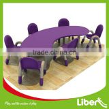 Hot Sale Plastic Dining Banquet table and chair For Kindergarten,junior school furniture kids tables and chairs set LE.ZY.159                                                                         Quality Choice