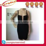 Hot selling cheap high quality sexy women wholesale backless bandage dress for the party