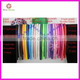 1cm Wide satin headband plastic hairband