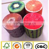 hot sale! Fancy new style stool ottoman and pouf for indoor used fruit design !                                                                         Quality Choice