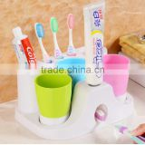 N167 Factory price automatic toothpaste dispenser & toothbrush holder,accept sample