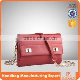 3683 High quality PU material burgundy fancy ladies purse handbag purses brand name women wallet