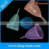 Reusable silicone Menstrual Cups for lady