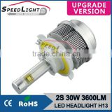 Speedlight Upgrad Version 30W 3600LM 2S Car LED Headlight Bulbs