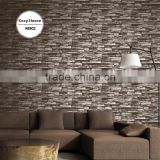 on sale embossed vinyl wallpaper, dark funky 3d wallcovering for tv background , inspirational wall covering manufacturer