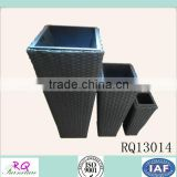 Wholesaler Garden Furniture Flower Pot PE Rattan Steel Frame