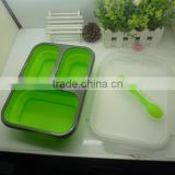 Hot selling collapsible lunch box/collapsible food container/foodgrade silicone lunch box