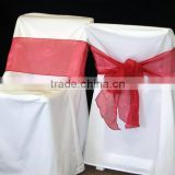 200GSM thick polyester banquet chair cover for wedding banquet hotel/ wrinkle and stain resistant