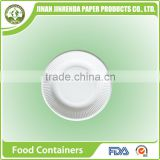 Disposable tableware of 6 inch Lace Round party Plate with sugarcane pulp