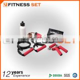 hand grip and jump rope and bottle fitness set,gym set,exercise equipment of fitness set