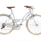 Retro style lady city bike 7 speed good quality ladies city bike fixie bicycle                                                                         Quality Choice