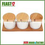 2015 hot selling white ceramic jars with lids