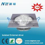 Square LED Ceiling 12W Light for commercial lighting usage LED Downlights