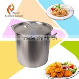 100L high capactiry commercial industrial stainless steel kitchen soup cooking pot with double-ply bottome