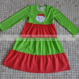 2016 Fashion Infant Fall Winter Baby Girls Long Sleeve Cotton Santa Christmas Dress