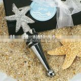 Elegant starfish beach theme design wine bottle stopper wedding favor