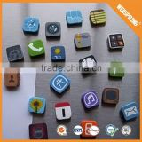 2015 new produst funny wholesale fridge magnet digital clock