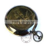 "ANCHOR DALVEY COMPASS 2"" - ANTIQUE PUSH BUTTON POCKET COMPASS - NAUTICAL BRASS ANTIQUE COMPASS"