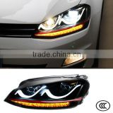 12V Head Lights Car LED Headlights For Volkswagen VW Golf 7 2012 2013 2014 Head Lamp                                                                         Quality Choice