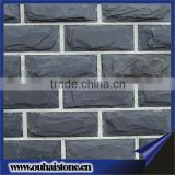 Whole sell black mushroom stone for wall cladding designs natural outside black wall cadding