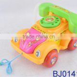 Kids plastic cartoon toy phone pulling phone car toy