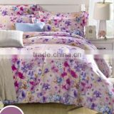 Chinese floral printed bedding set 16mm tencel bed sheets set wholesale tencal bedding set