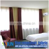 Yarn dyed jacquard fire-retardant fabric home curtain set XJZ 2009-3