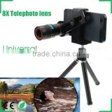 8x Zoom Mobile Phone Telescope Zoom lens For iPhone Sumsung HTC Huawei Xiaomi Clip Magnifier with Holder
