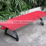 Cast iron leg bench outdoor metal bench for park