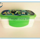 Wholesale fashional cartoon lunch box two layers of plastic lunch box food storage box mini lunch box                                                                         Quality Choice