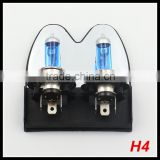 12V 55W h4 halogen fog lamp bulb auto quartz glass 6500k white color h4 car fog lamp replacement