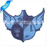 Laser cut patch with iron on backing heat press embroidered patch machine made patch                                                                                                         Supplier's Choice