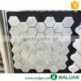 Polished White Octagon Floor Marble Mosaic Tile for Bathroom Wall Use