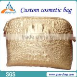 nice fashionable factory price custom unique pu shiny cosmetic bag
