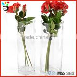 China Wholesale Cheap Price High Borosilicate Material Cylinder Tall Glass Vase For Flower