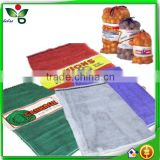 50*80 green red pp leno mesh bag for firewood onion fruit packaging/onion mesh pp leno bag